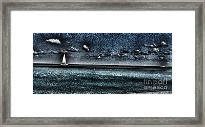 Midnight Cruise Framed Print by Diana Riukas