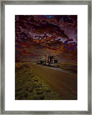 Midnight Deisel Framed Print by Bill Tiepelman