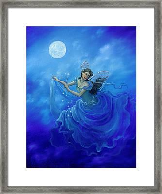 Midnight Fairy Framed Print by BK Lusk