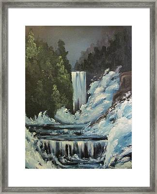 Framed Print featuring the painting Midnight Glory by Wendy Shoults
