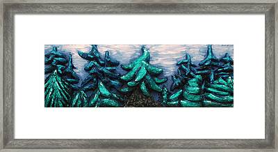 Midnight Grove Framed Print