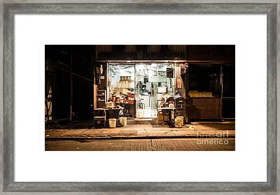 Midnight Hong Kong Framed Print