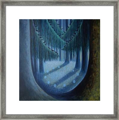 Midnight In The Enchanted Forest Framed Print by Tone Aanderaa