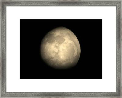 Midnight Moon Framed Print by Aliesha Fisher