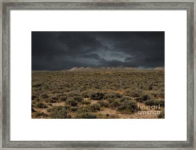 Midnight On The Pairie In Wyoming Framed Print