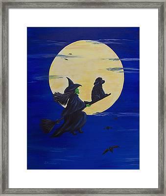 Midnight Ride Framed Print by Sharon Nummer
