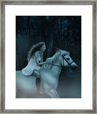 Framed Print featuring the photograph Midnight Ride Through The Forest by Ethiriel  Photography