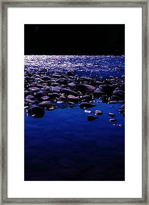 Midnight Swim Framed Print by Virginia Lei Jimenez