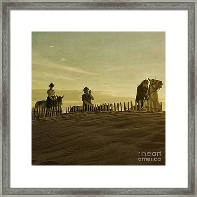 Midsummer Evening Horse Ride Framed Print by Paul Grand
