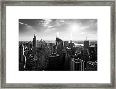 Midtown Skyline Infrared Framed Print
