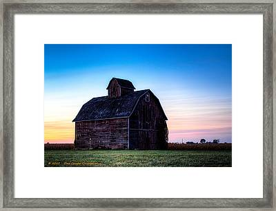Midwest Sun Down Framed Print by Dan Crosby