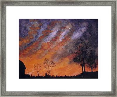 Framed Print featuring the painting Midwest Sunset by Stacy C Bottoms