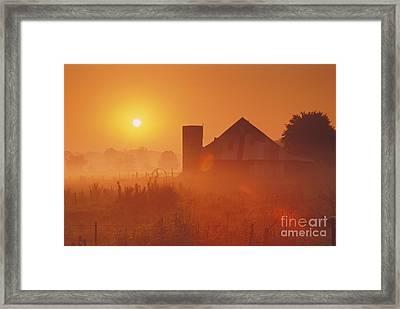 Midwestern Rural Sunrise - Fs000405 Framed Print by Daniel Dempster