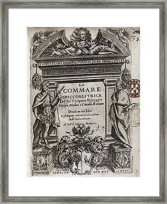 Midwifery Book Title Page, 1601 Framed Print by Middle Temple Library