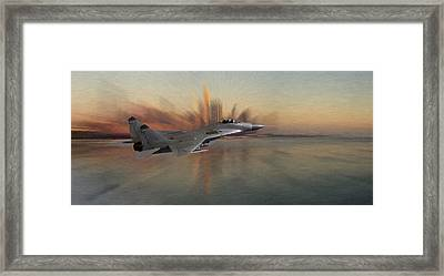 Mig 29 Approaching Framed Print by Steve K