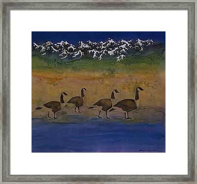 Migration Series Geese 2 Framed Print by Carolyn Doe