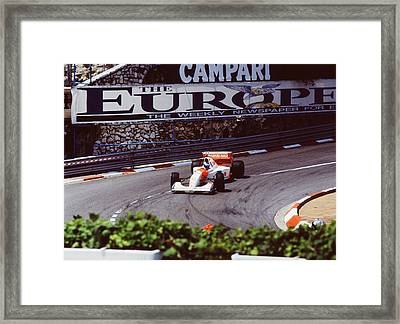 Mika Hakkinen At Loews Hairpin Framed Print by John Bowers