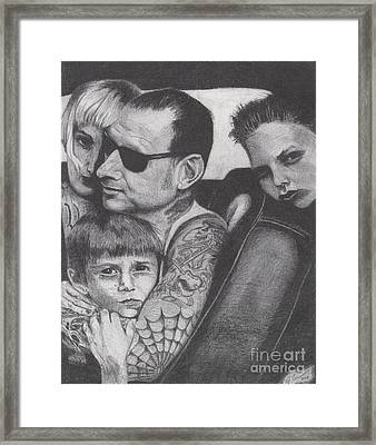 Mike Ness Framed Print by Jeff Ridlen