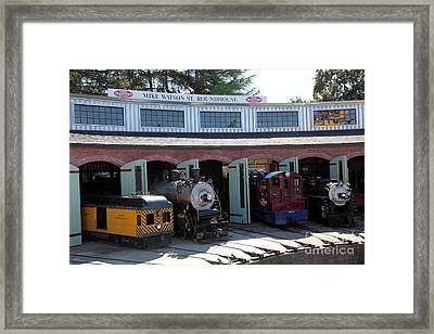 Mike Watson St. Turnhouse - Traintown Sonoma California - 5d19249 Framed Print by Wingsdomain Art and Photography
