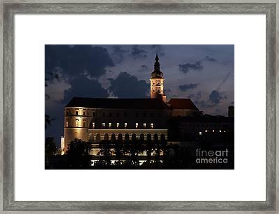 Mikulov Castle At Night Framed Print by Michal Boubin