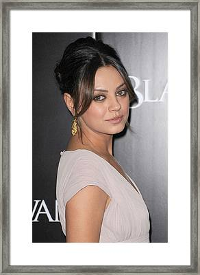 Mila Kunis At Arrivals For Black Swan Framed Print by Everett