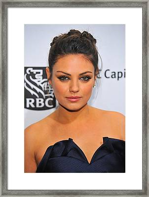 Mila Kunis At Arrivals For Ifps 20th Framed Print