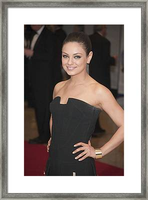 Mila Kunis In Attendance For 2011 White Framed Print by Everett