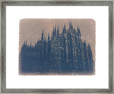 Milan Cathedral Framed Print by Naxart Studio