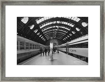 Milano Centrale Framed Print by Mariana Costa Weldon