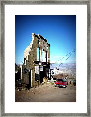 Framed Print featuring the photograph Mile High Jerome Arizona by Cindy Wright
