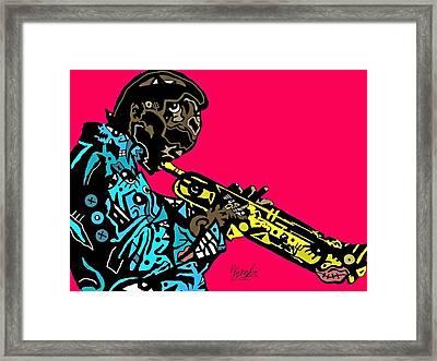 Miles Davis Full Color Framed Print
