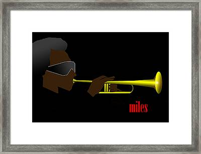 Miles Davis Framed Print by Victor Bailey