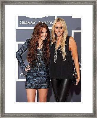 Miley Cyrus, Mom, Tish Cyrus Framed Print by Everett