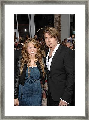 Miley Cyrus Wearing An Alberta Ferretti Framed Print by Everett