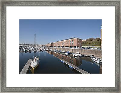 Framed Print featuring the photograph Milford Haven Marina 2 by Steve Purnell