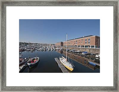 Framed Print featuring the photograph Milford Haven Marina 3 by Steve Purnell