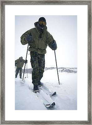 Military Arctic Survival Training Framed Print