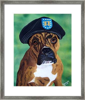 Military Boxer Framed Print