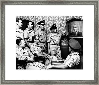 Military Men At New Yorks 71st Street Framed Print by Everett