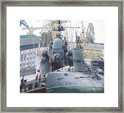 Military Port Framed Print by Yury Bashkin