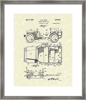 Military Vehicle 1942 Patent Art Framed Print