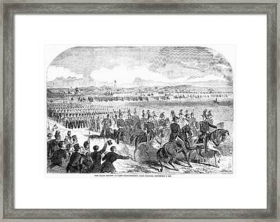 Militia Review, 1859 Framed Print by Granger