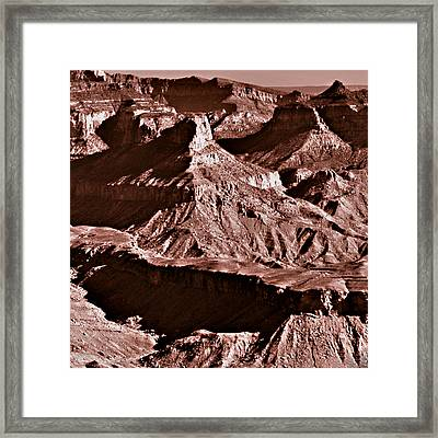 Milk Chocolate Mountains Framed Print by Bob and Nadine Johnston
