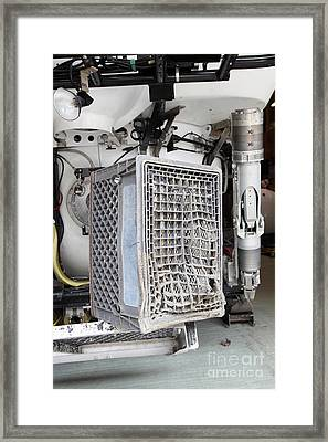 Milk Crate Melted By Submarine Jet Framed Print by Ted Kinsman