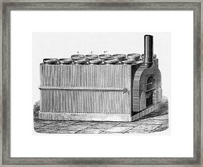 Milk Pasteurization, 19th Century Framed Print by Cci Archives