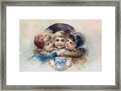 Milk Trade Card, C1880 Framed Print by Granger