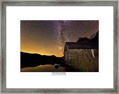 Milky Way Above The Old Boathouse Framed Print