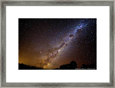 Framed Print featuring the photograph Milky Way Down Under by Charles Warren