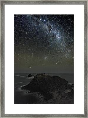Milky Way Over Phillip Island, Australia Framed Print by Alex Cherney, Terrastro.com