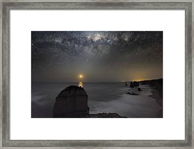 Milky Way Over Shipwreck Coast Framed Print